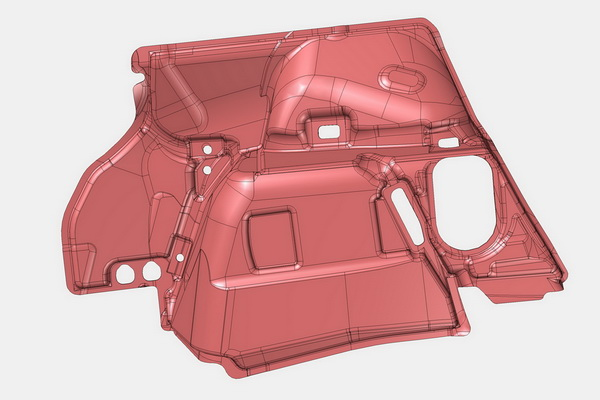 Bauteil zur Schallabsorption im Kofferraum