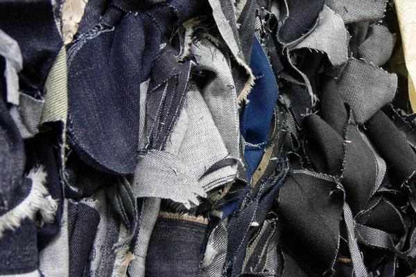 Suroflex: Abschnitte aus Jeansproduktion